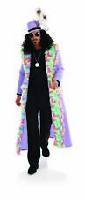 Mens Purple Pimp Costume + Hat Adult 1970s Big Daddy Fancy Dress M L XL  Rapper