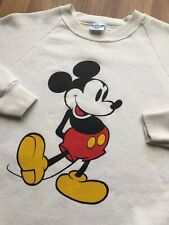 1980s Vtg Mickey Mouse Crewneck Raglan Sweatshirt Men's X-LARGE USA *Great!