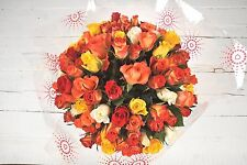 Fresh Real Birthday Flower Delivered 100 RedOrange ROSES FREE UK Next Day by Pos