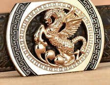 MENS DESIGNER BELT BUCKLE FOR MEN HORSE DIAMONDS LUXURY 38MM PIN BUCKLE ONLY UK