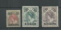 Suriname 34-36 Hulpuitgifte  MH/ongebr CV 100 €