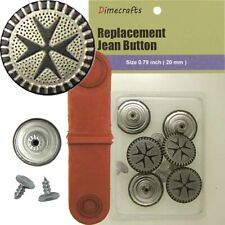 35544 6 CT. 20 mm No-Sew Replacement Jean Tack Buttons
