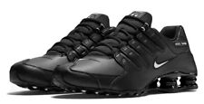 🔥Nike Shox NZ EU (Mens Size 9) Shoes 501524 091 Black Leather