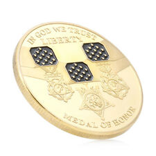 In God We Trust Medal of Honor Liberty Commemorative Challenge Coin Gold Plated