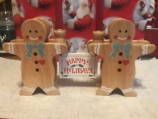 House of Lloyd Christmas Around The World Gingerbread Greetings Wood Candlestick