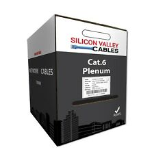 New 550Mhz Cat6 Plenum 1000ft Cable White Color By Silicon Valley Cables