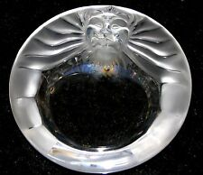 Stunning Lalique Crystal: Frosted 'Tete De Lion' Ashtray