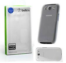 BELKIN Shield Sheer Hard Back Snap On Case Samsung Galaxy S3 Glow White