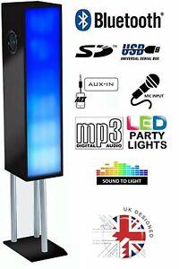 Steepletone Large Bluetooth 100W Megasound Party Speaker System W/ Disco Lights