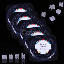 5pack Orthodontic Dental Ceramic Bracket Brace 5*5 Roth Slot 022 Hooks 3 4 5