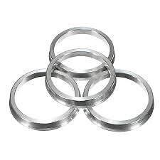 Aluminium Spigot Rings Set Of 4! 66.6 - 57.1 To Suit Audi, VW Mercedes