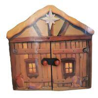Little Nativity Petite Creche from Costco Carrying Case Barn Manger Scene