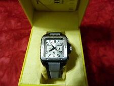 Invicta Women's Cuadro Quartz Nylon & Leather Strap Watch Model # 11572 NEW