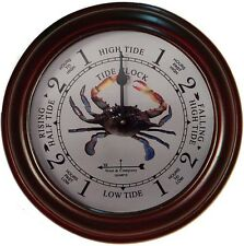 "6"" CHERRY CRAB TIDE CLOCK BY WEST & CO."