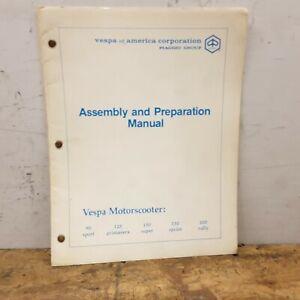 Vespa Original OEM Assemby & Prep 90 125 150 Rally 200 Vintage Book Shop Manual