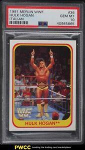 1991 Merlin WWF Italian Hulk Hogan #36 PSA 10 GEM MINT