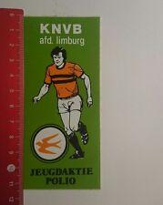 Aufkleber/Sticker: KNVB afd Limburg Jeugdaktie Polio (261216104)