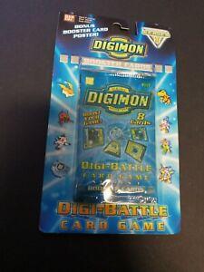 Digimon Digi-Battle Booster Pack Series 1 New 2000 Sealed Blister Pack Rare
