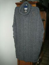 Superbe poncho, long pull REPLAY , gris foncé, taille M 40-42   NEUF