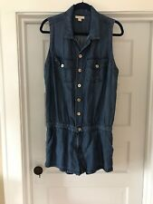 3be25d372523 True Religion Chambray Romper. Size M. Retails  178!!! Worn Once!