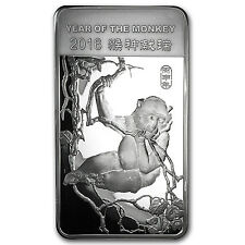 10 oz Silver Bar - APMEX (2016 Year of the Monkey) - SKU #91859