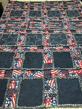 Stars And Stripes Family Rag Blanket - Extra Large