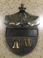 Heritage Colonial Door Plaque Knocker Patriotic Eagle Liberty Bell Flag