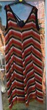 BNWT ZARA LINEN MIX ITALIAN YARN MULTICOLOURED STRIPED LONG MAXI DRESS SIZE M