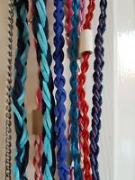 DOG SHOW LEADS - LEATHER / SUEDE BRAIDED - cute & strong! Handmade in the UK.