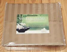 Brand New - Egyptian Cotton - Spa Indulgence - Beige- Queen - Sheet Set