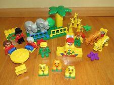 Large Legos LEGO Duplos Zoo Animal Play Set Tiger Giraffe Elephant zoo keeper