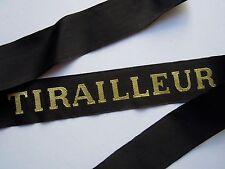TIRAILLEUR Marine-Ruban légendé authentique cap tally
