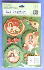 K&Company Grand Adhesions 3-Dimensional Christmas Stickers Decorate Paper Crafts