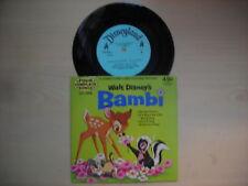 "Disneyland Record Disney's BAMBI 7"" 33 1/3rpm 1972"