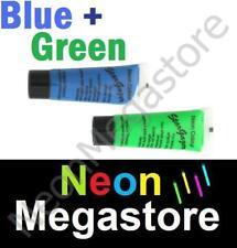 2 Stargazer UV Neon Face Body Paint Blue And Green