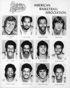 1975 SPIRITS OF ST. LOUIS ABA BASKETBALL 8x10 PHOTO SET