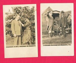 Calvin Coolidge at Plymouth Vermont Real Photo Post Cards