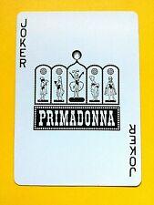 Primadonna Casino Showgirl Silhouettes Uncancelled Joker Swap Playing Card