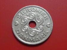 Denmark 2 Kroner 1997 , Holed coin