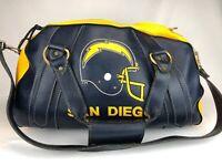 "Vintage NFL San Diego Chargers Leather Alumni Bag Belding Sports 19"" X 9"" X 11"""