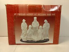 Holiday Traditions 8 Piece Porcelain Nativity Set Christmas Decoration ch1169