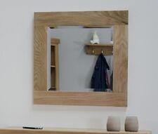 Boston solid oak furniture small square glass wall mirror