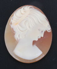 From Shell 0583B Cameo Unmounted Carved