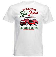 VINTAGE ITALIAN CAR FIAT Jolly reale Potere-Nuovo T-shirt di cotone