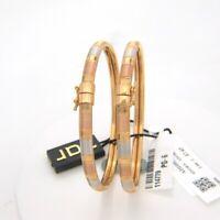 Vintage Dubaï Fait à la Main Bangle Hinged Bracelet En 916 Embouti 22K Or jaune