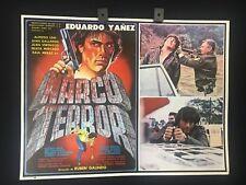 1985 Narco Terror Eduardo Yanez Original Mexican Movie Lobby Card -A301