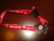 TAMPA BAY BUCCANEERS Lanyard Clip Neck Tag Keychain for ID Keys Ticket Holder