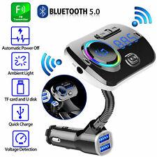 Car Bluetooth FM Handsfree Transmitter MP3 Player & QC3.0 USB Fast Charger Kit