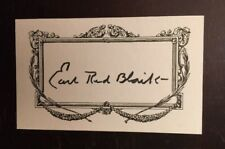 Earl Red Blaik (d.1989) signed index card 3x5 autographed CFHOF Army Coach