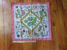 "Bandana Kellogg Kelloggs scarf kerchief 2014 Beach pink l Made in USA 22"" square"